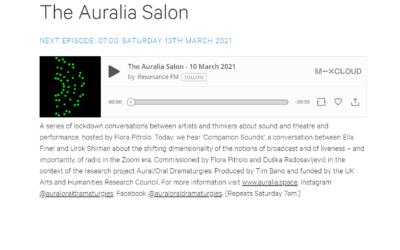 The Auralia Salon – 3rd March 2021 – 7th April 2021